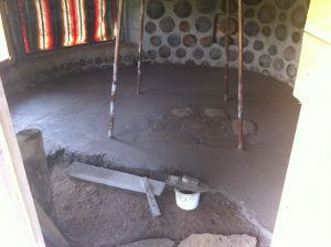 cob floor in progress